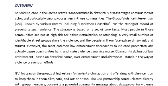 Group Violence Intervention Issue Brief