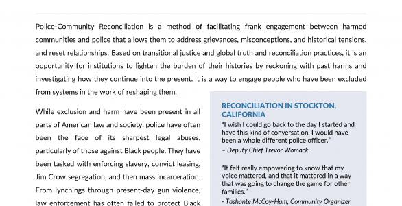 Reconciliation Issue Brief